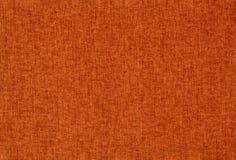 Achtergrondtextuur van Oranje Katoenen Textielmacro stock fotografie