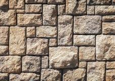 Achtergrondtextuur van oude bruine steenmuur Stock Afbeeldingen