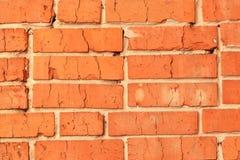Achtergrondtextuur van rode baksteen Stock Foto