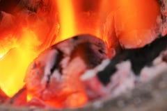 Achtergrondvlamhitte van brand brandende steenkolen royalty-vrije stock fotografie