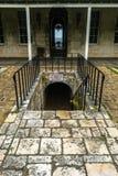 Achteringang van Rose Hall Great House in Montego Bay Jama?ca Populaire toeristische attractie royalty-vrije stock afbeeldingen