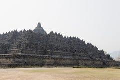 Achterkant van Borobudur-tempel, Java, Indonesië Royalty-vrije Stock Fotografie