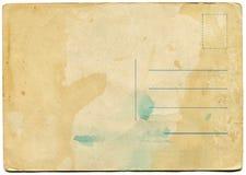 Achterkant van een antieke prentbriefkaar Royalty-vrije Stock Foto