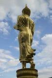 Achterkant van het standbeeld van Boedha, Nan-provincie, Thailand Royalty-vrije Stock Afbeeldingen
