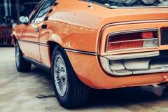 Achtermening van een auto Stock Foto