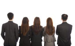Achtermening van een Groep commercieel team Stock Fotografie
