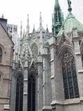 Achtermening van Heilige Patrick& x27; s Kathedraal NYC stock foto's
