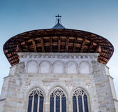 Achtermening van het Putna-klooster Stock Foto