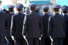 Achtermening van Japanse politiemannen Royalty-vrije Stock Foto