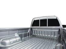 Achtermening van lege oogstvrachtwagen Stock Foto