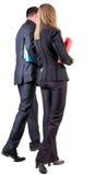 Achtermening van lopend commercieel team Stock Foto