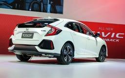 Achtermening van Nagelnieuwe Honda Civic-VIJFDEURSAUTO Stock Afbeelding