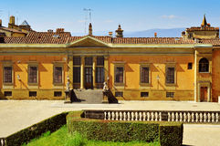 Achtermening van Palazzo Pitti in Florence, Italië Royalty-vrije Stock Fotografie