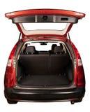 Achtermening van SUV met open boomstam royalty-vrije stock afbeelding