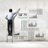 Achtermening van zakenman Royalty-vrije Stock Afbeeldingen