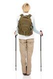 Achtermenings vrouwelijke wandelaar Stock Afbeelding
