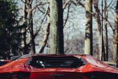 Achtermotorbaai Aventador Royalty-vrije Stock Foto's
