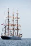 Achtern des Segelboots Lizenzfreie Stockfotos