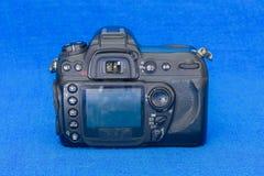 Achterpaneel van oud DSLR-cameralichaam Stock Afbeelding