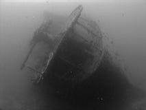 Achtersteven van HMSS Thistlegorm stock foto's