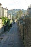Achterstraat, Saltaire, West-Yorkshire Royalty-vrije Stock Foto