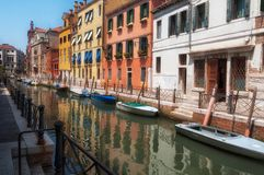 Achterstraten van Venetië Stock Afbeelding