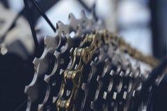 Achtertoestel voor zes fietsen van hoge snelheidssporten royalty-vrije stock foto's