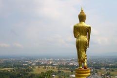 Achtertribune gouden Boedha Stock Afbeeldingen