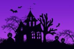 Achtervolgd Halloween huis Royalty-vrije Stock Foto