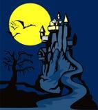 Achtervolgd kasteel stock illustratie