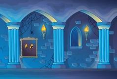 Achtervolgd kasteel binnenlands thema 1 royalty-vrije illustratie