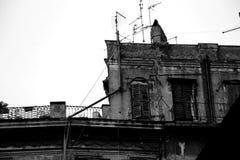 Achtervolgd oud huis Royalty-vrije Stock Afbeelding
