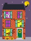 Achtervolgde Halloween-flat vector illustratie