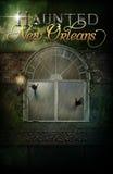 Achtervolgde het Hotel van New Orleans Affiche Als achtergrond Stock Foto's