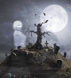 Achtervolgde Heuvel met Spook stock fotografie