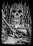Achtervolgde steen Art Illustration vector illustratie