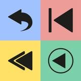 Achterwaartse pictogrammen Stock Afbeelding