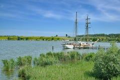 Achterwasser,乌瑟多姆岛,波罗的海,德国 库存照片