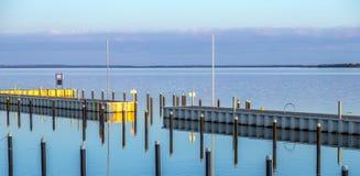 Achterwasser em Usedom no mar Báltico Fotos de Stock