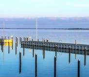 Achterwasser i Usedom på det baltiska havet Arkivbilder