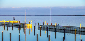 Achterwasser in Usedom at the baltic sea Stock Photos