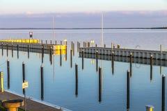 Achterwasser w Usedom przy morzem bałtyckim Obraz Stock