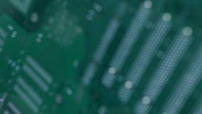 Achterweergeven van een Computermotherboard Spaander stock videobeelden