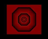 Achthoekig cijfer in rood en zwart Stock Afbeeldingen
