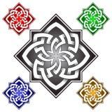 Achthoekig embleemmalplaatje in Keltische knopenstijl Royalty-vrije Stock Afbeeldingen