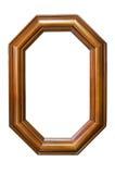 Achthoekig houten frame royalty-vrije stock foto's
