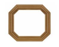 Achthoekig houten Frame voor beeld royalty-vrije stock afbeelding