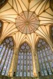 Achthoekig plafond van hoofdstukhuis bij de munster van York (kathedraal) Royalty-vrije Stock Foto's