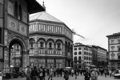 Achthoekige Baptistery van Florence Stock Afbeelding