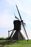Achthoekige molen in Oudega, Holland Royalty-vrije Stock Foto's